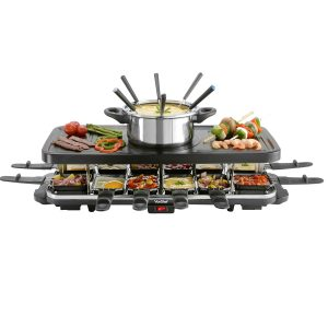 VonShef 12 Person Raclette Grill with 6 Fork Fondue Set - Click to buy on Amazon and read reviews